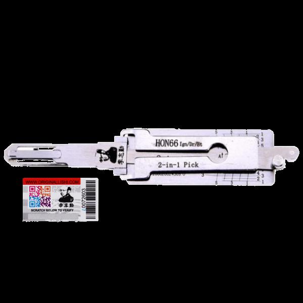 ORIGINAL LISHI HON66 2 IN 1 LOCKSMITH DECODER PICK TOOL